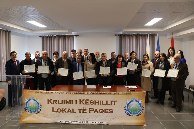 Albania-2019-01-05-UPF-Albania Nears Completion of Peace Council Goal