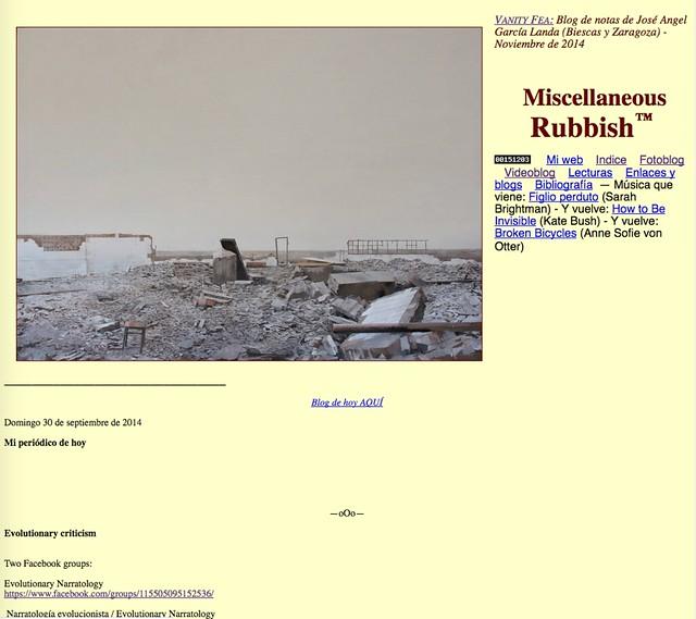 Miscellaneous Rubbish: Blog de notas de noviembre de 2014