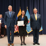 Vi, 03/29/2019 - 14:30 - On Friday, March 29, 2019, the William J. Perry Center for Hemispheric Defense Studies hosted a graduation ceremony for two courses: 'Strategic Implications of Human Rights and Rule of Law' and 'Combating Transnational Threat Networks.' Students from all over the Americas attended the courses from March 18-29, 2019. The graduation ceremony and reception took place in Lincoln Hall at the National Defense University's North Campus at Fort McNair in Washington, DC.