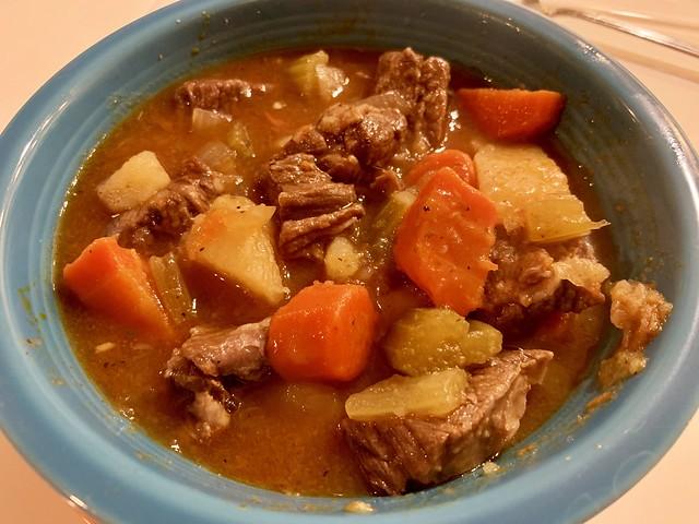 Beef stew via Instant Pot