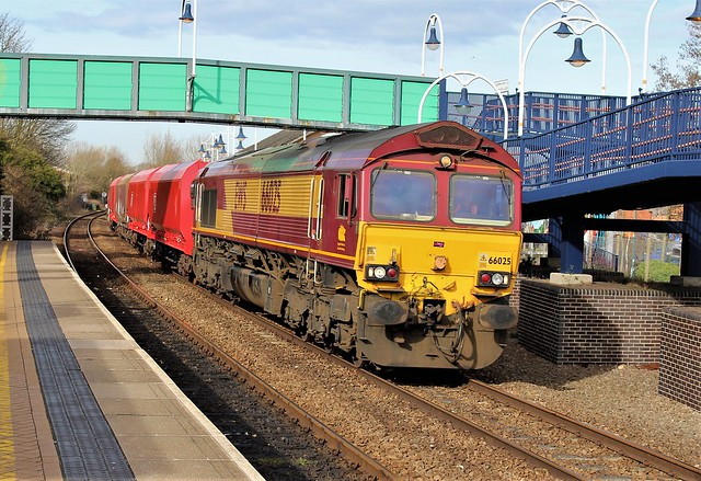 EWS - DB Cargo 66025 - Mansfield Woodhouse