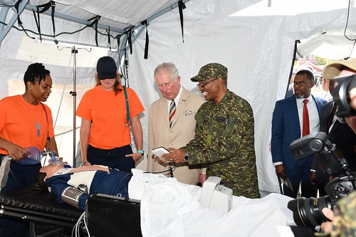 The Prince of Wales tours field medical facility (1) | by barbadosgovernmentinformationservice