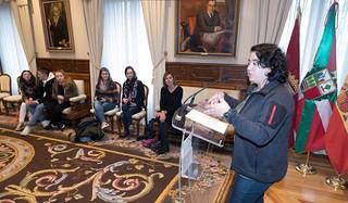 Alemaniako ikasleek udaletxea bisitatu dute // Estudiantes alemanes visitan la casa consistorial (08-04-2019)   by Galería fotográfica del AVG