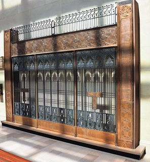 Elevator Bank with T-Plates from the Chicago Stock Exchange