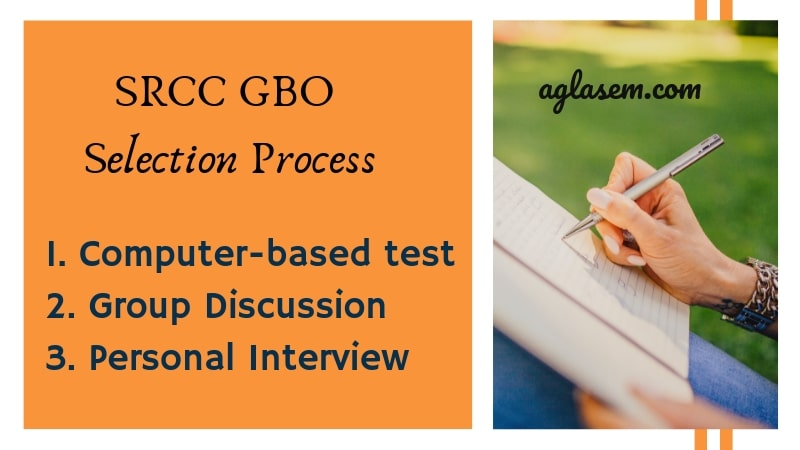 SRCC GBO Selection Process