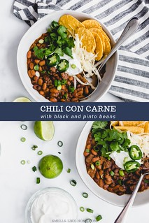 Chili Con Carne with Black and Pinto Beans | by Smells Like Home