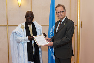 NEW PERMANENT REPRESENTATIVE OF MAURITANIA PRESENTS CREDENTIALS TO THE DIRECTOR-GENERAL OF THE UNITED NATIONS OFFICE AT GENEVA