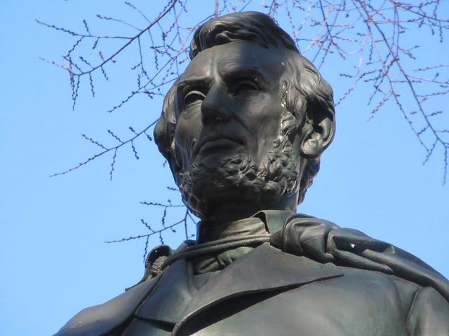 President Abraham Lincoln Bronze statue Union Square Park 1545