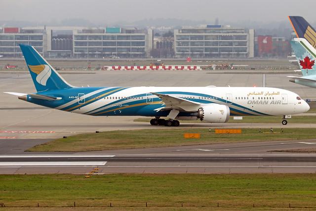 A4O-SF  -  Boeing  787-9 Dreamliner  -  Oman Air  -  LHR/EGLL 12-2-19