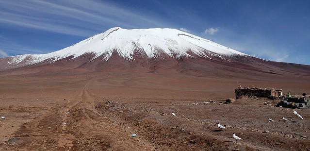 The Juriques Volcano, Bolivian Highlands (Altiplano Boliviano), Sur Lípez, Potosí, Bolivia.