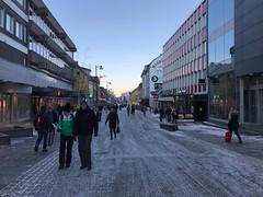 Storgate i Tromsø i februar