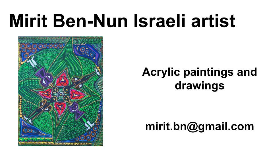 Mirit Ben-Nun artist femme color original women art exhibition