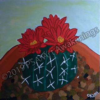 ''Desert Bloom'' by Cherielle, acrylic, $30.00 | by Art Awakenings