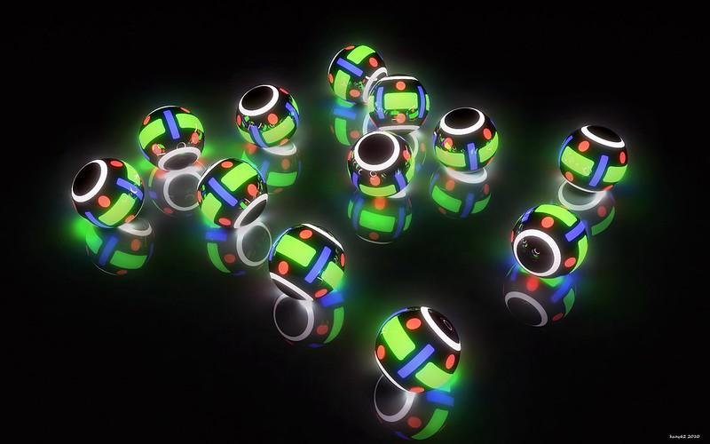 Обои свет, шары, подсветка, фон картинки на рабочий стол, фото скачать бесплатно