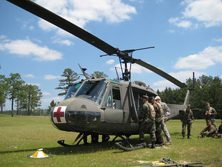 SEABEES from NMCB-21 check out UH-1V Camp Shelby MS. | by pclay923