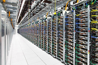 data center with various hardware