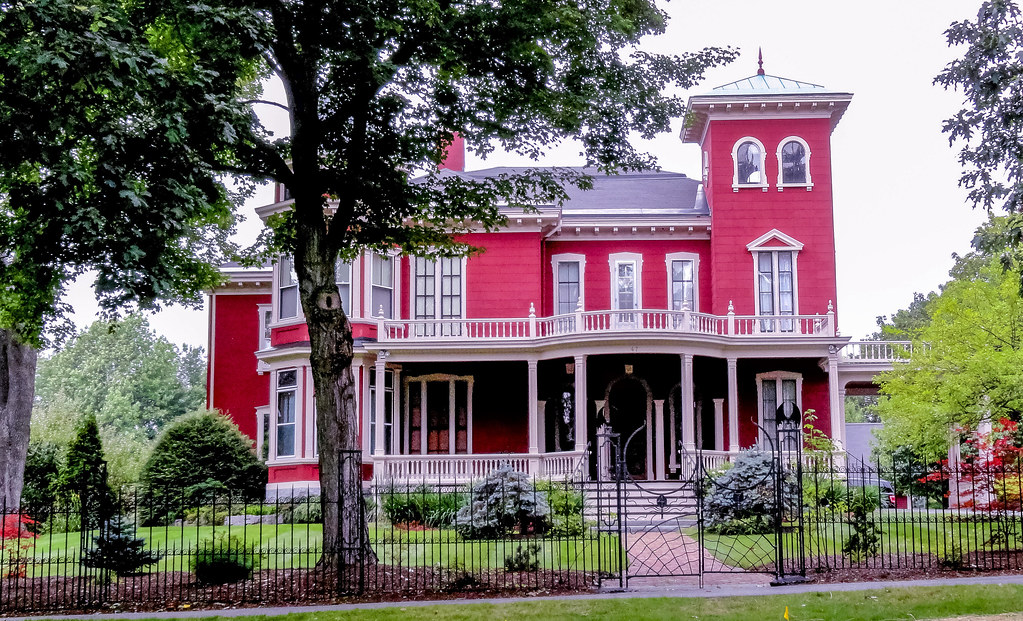 Rose Red Gothic Mansion of author Stephen King in Bangor, Maine