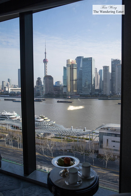 View of The Bund from my room during the late morning