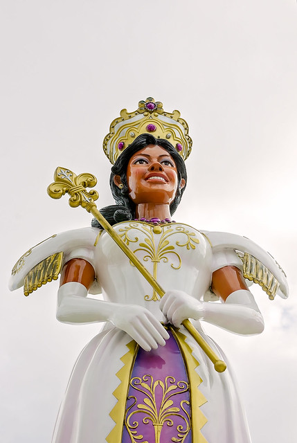 First MAMGA Mardi Gras Queen statue in Mobile Alabama