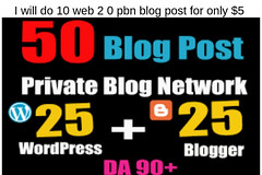 I Will Do 50 Web 2 0 Pbn Article Submissin Manually