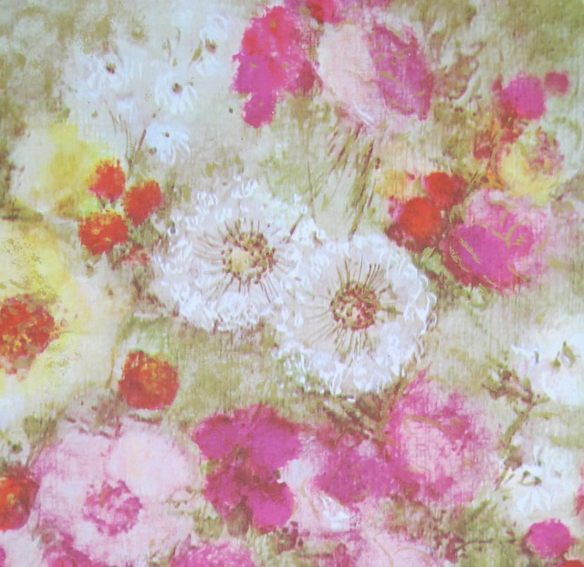 Vintage Rust Craft Floral Wrapping Paper - Made in Canada