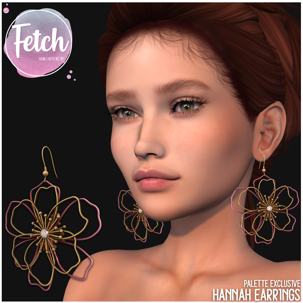 [Fetch] Hannah Earrings - Palette Exclusive Color - TeleportHub.com Live!