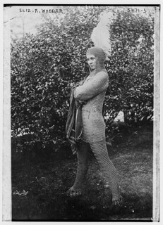 Eliz. R. Wheeler [wearing chain-mail costume] (LOC) | by The Library of Congress