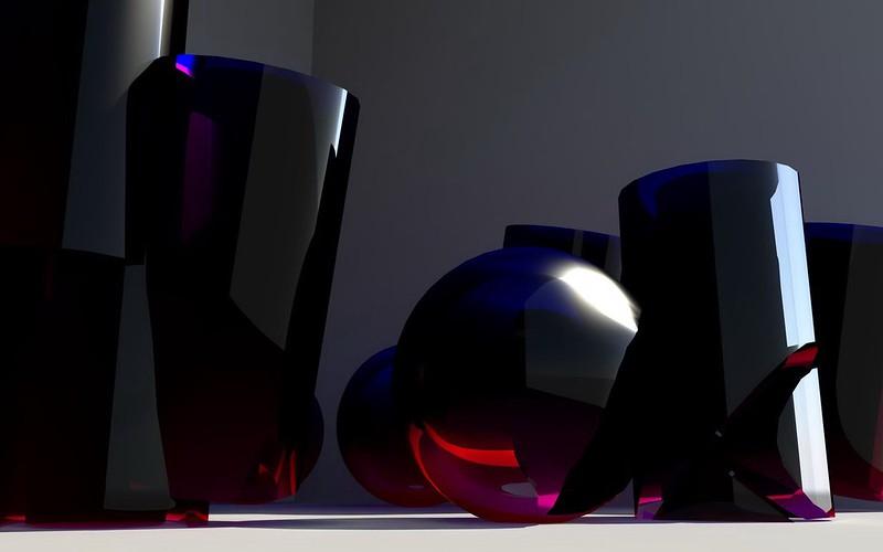 Обои стекло, формы, синий, 3d картинки на рабочий стол, фото скачать бесплатно