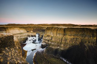 Palouse Falls in Winter: Re-edit