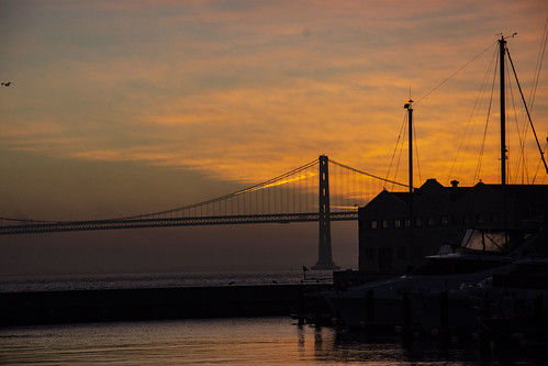 sanfrancisco sunrise boats water california usa america nikon nikond7200