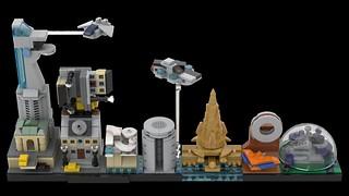 LEGO Avengers Skyline Architecture MOC 01 | by MOMAtteo79