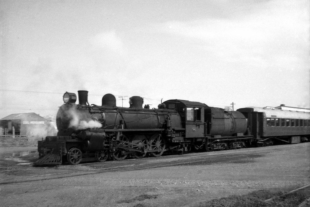 NZR Locomotive Ab 707 at Opunake Railway Station. 1966