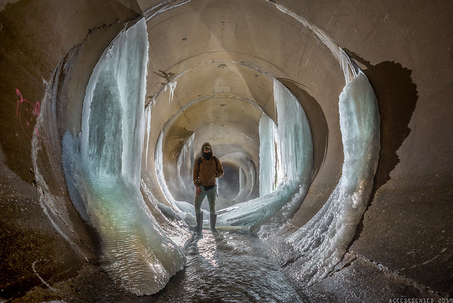 Polar vortex ice palace