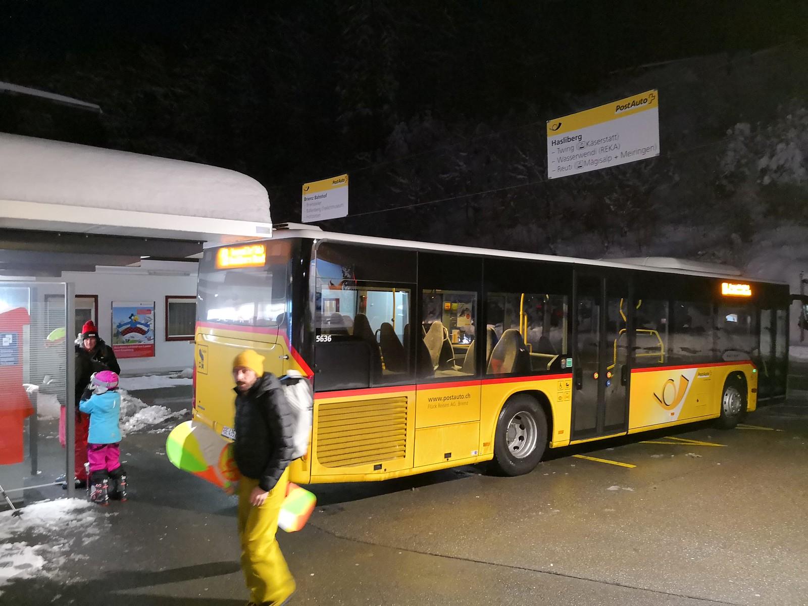 Postbus transfer to Hasliberg