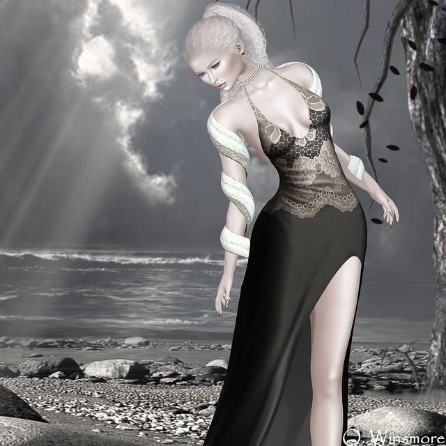 Siss Boom : Tall Drink - Gown & Metallic Wrap