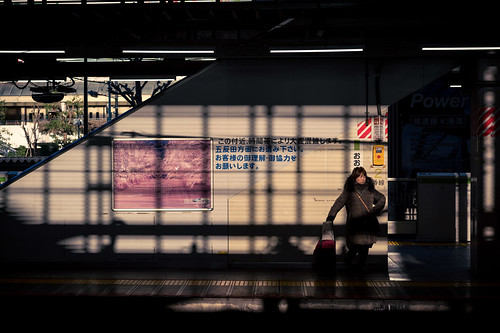 Tokyo subway shadows and contrasts | by wolfkann