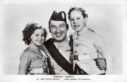 Shirley Temple, Victor McLaglen and Douglas Scott in Wee Willie Winkie (1937)