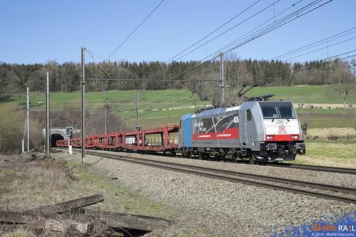 186 498 DB Cargo . E 49567 . Hombourg . 19.03.19.