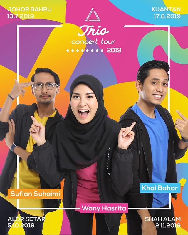 Khai Bahar, Wany Hasrita & Sufian Suhaimi Hargai Peminat di Trio Concert Tour 2019
