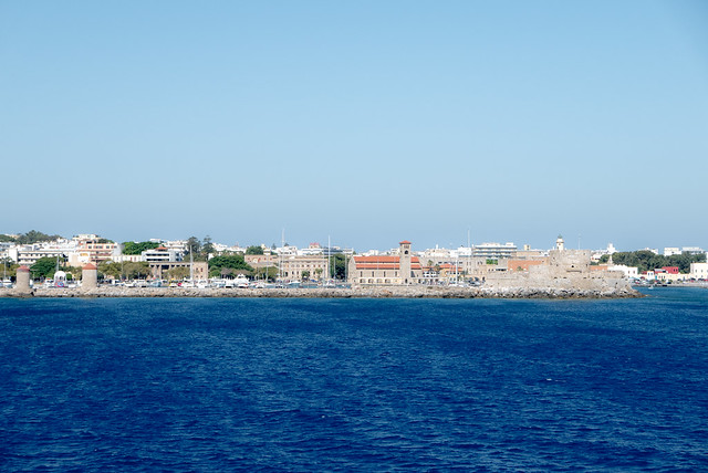 View of Mandraki Harbour from the Sea
