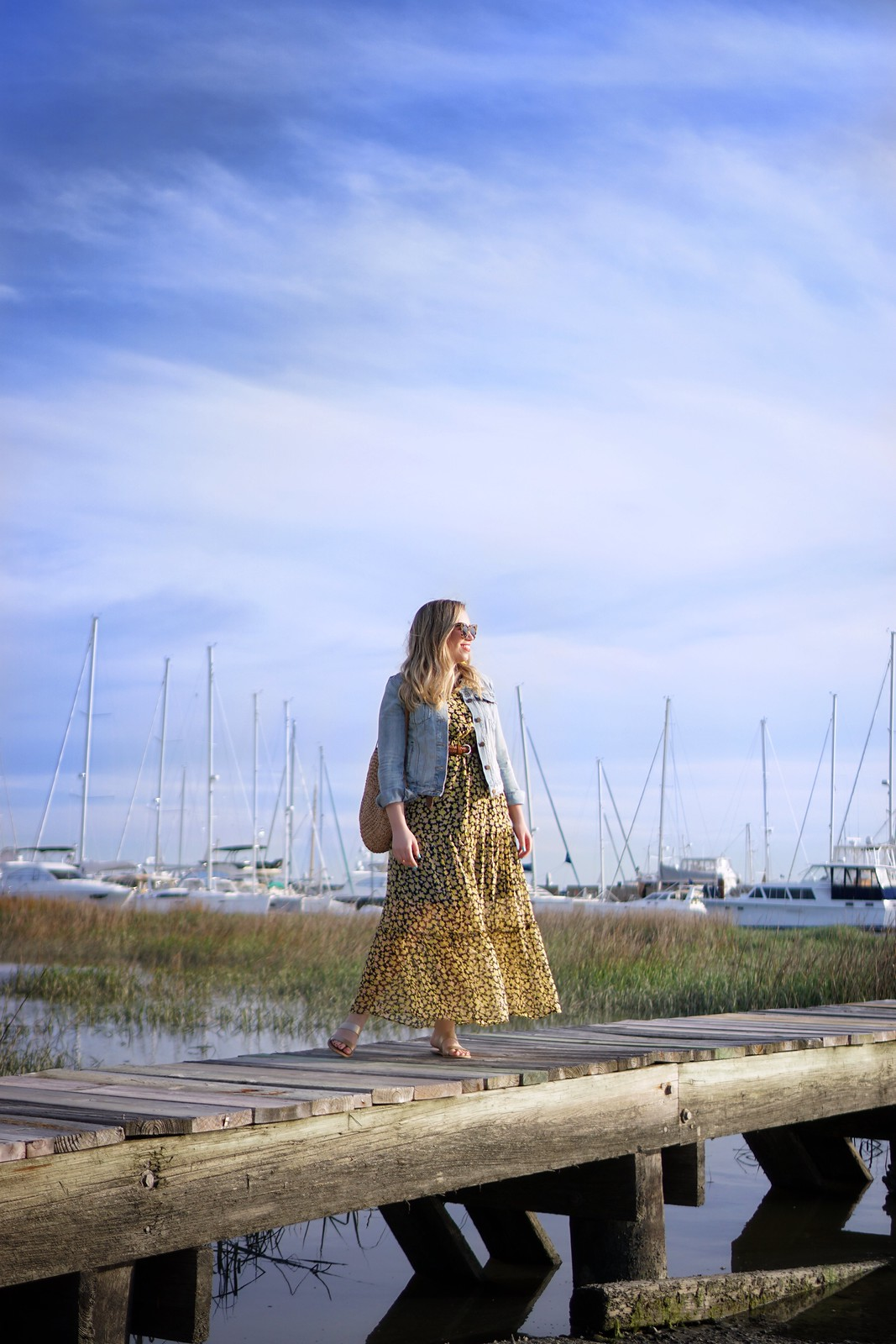 Who What Wear Yellow Printed Maxi Dress | Charleston Marina | First Timer's Guide to 3 Days in Charleston South Carolina | What to do in Charleston | Charleston Travel Guide | Best Things to do in Charleston | Best Places to visit in Charleston | Summer Outfit Ideas | Charleston Outfit Ideas | Best Outfits for Vacation | Charleston Packing List | Spring Outfit Ideas