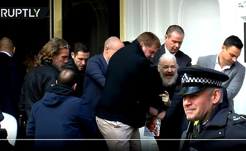 Julian Assange Arrested + Wikileaks Claims Discovery of Extensive Spying Operation Against Assange