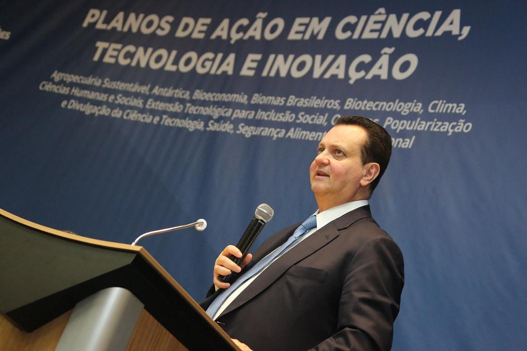11/12/2018. Brasília-DF. Ministro Gilberto Kassab participa de lançamento dos Planos de Ação em Ciência, Tecnologia e Inovação da Secretaria de Políticas e Programas de Pesquisa e Desenvolvimento. Foto: Ricardo Fonseca/MCTIC.