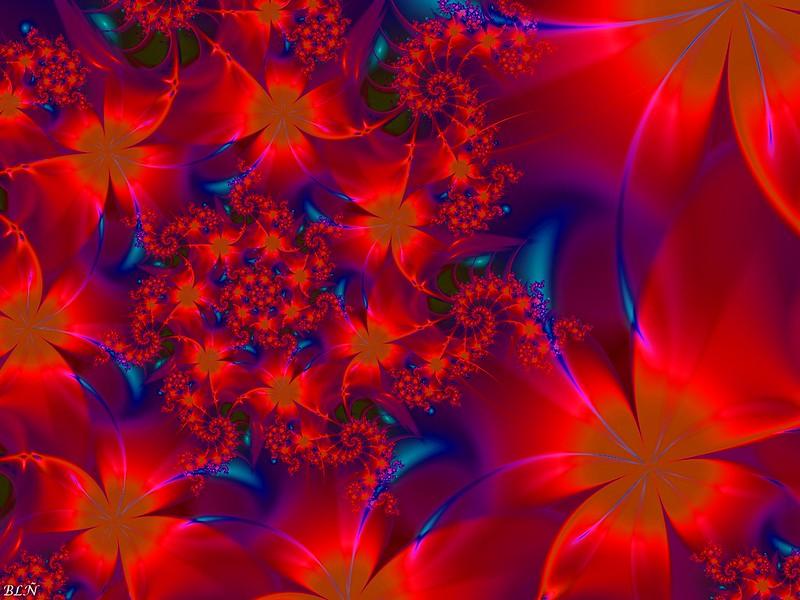 Обои фрактал, узоры, цветы, блеск картинки на рабочий стол, фото скачать бесплатно
