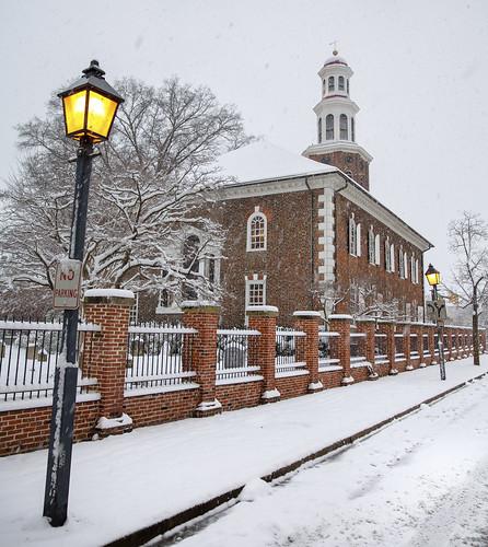 alexandria snow virginia winter christchurch dc oldtown snowy snowstorm2019 church churchyard