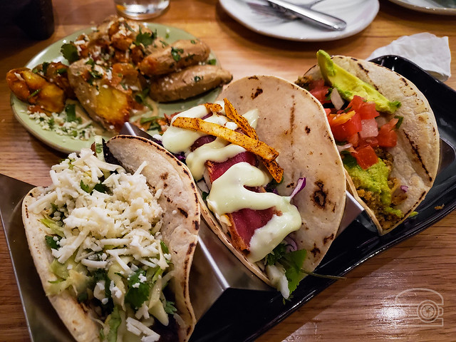 Chorizo, Tuna, and Pork Belly Taco - Babalu