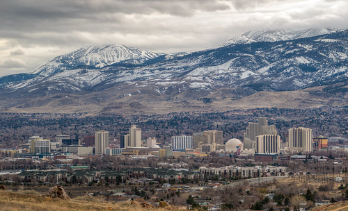 reno nevada renonevada skyline mountain landscape casino west western city cityscape nv
