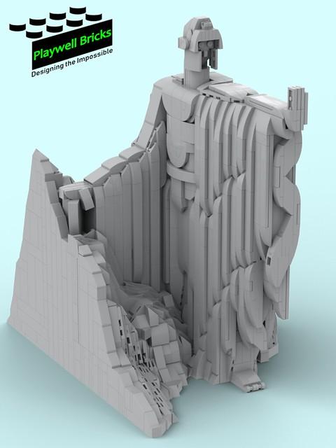 Argonath WIP - Isildur - Complete (Gray Scale)