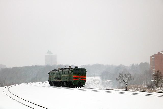 Тепловоз 2ТЭ10МК-3568 резервом.