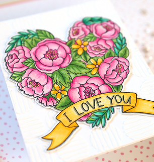 Valentine's Day Watercolor Card 1 close up | by suzy.plantamura